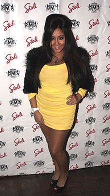 "Snooki. Wearing ""the pouf."""