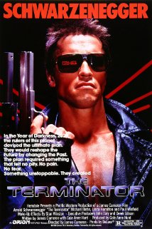 "Arnold Schwarzenegger as ""The Terminator."" -image courtesy of IMDb"