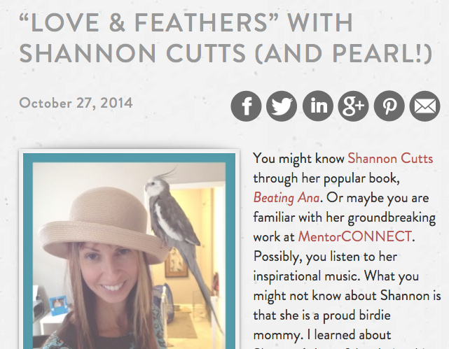 Best-selling author Jenni Schaefer shares full-length, in-depth post featuring the famous and feathery one!