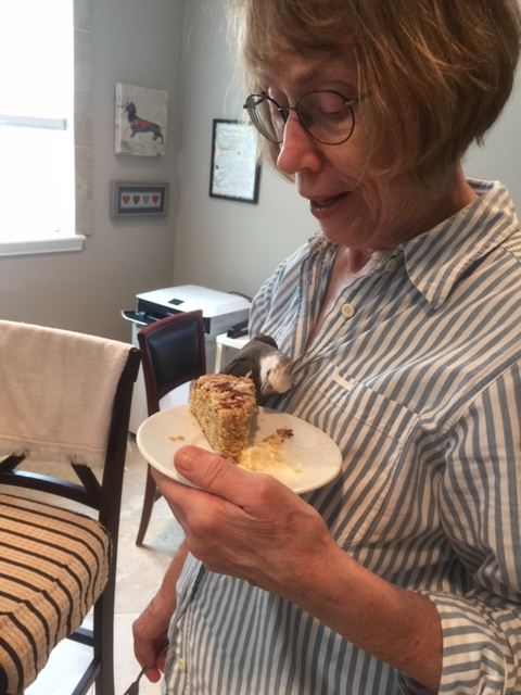 Why yes, Grandma, I would love to share this piece of almond cake!