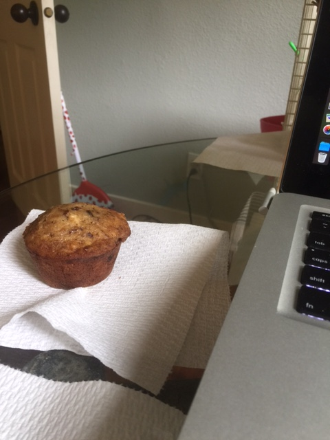 At once it is as if he was never here at all. The muffin sits alone, unguarded and uneaten, as the sun begins to rise.