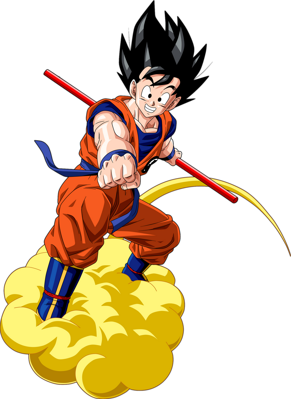 Goku, showcasing both pure-heartedness and fierceness.