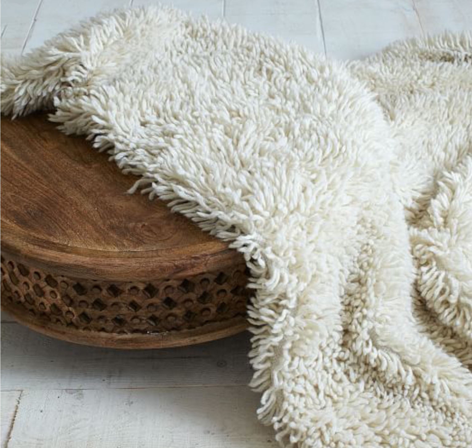 "A retro-trendy ""shag rug,"" reimagined for a modern audience. (-Image courtesy of West Elm.)"